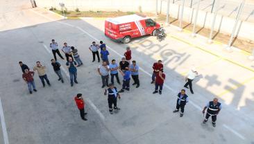 2. OSB'de Hakan Plastik personelleri ile yangın tatbikatı