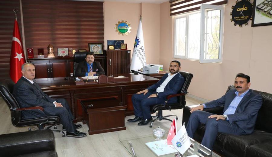 AK Parti Eyyübiye İlçe Başkanı Demirbaş Bölge Müdürümüze ziyareti