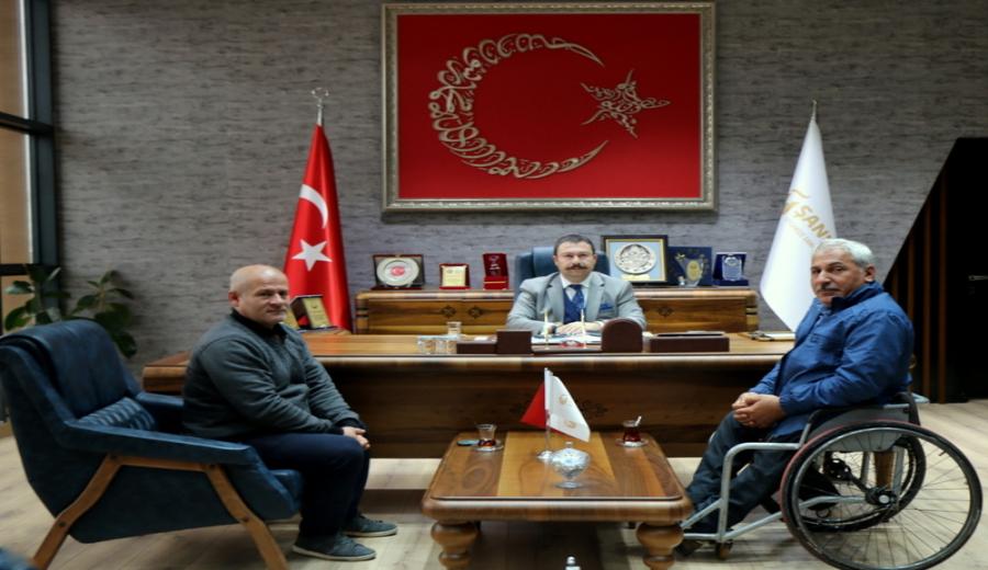 Bedensel Engelliler Spor Kulübü, AKSU'yu Ziyaret Etti