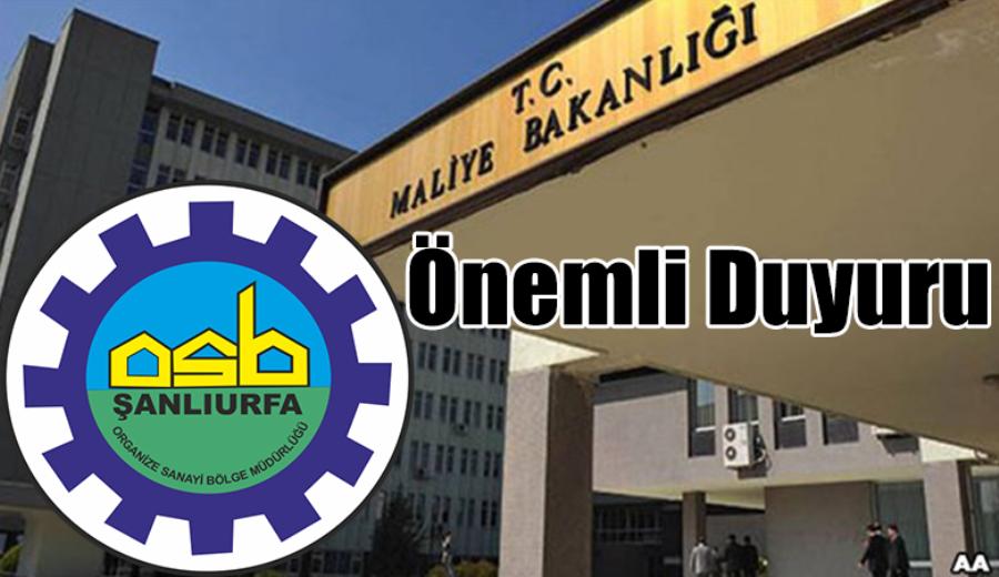 Organize Sanayi Bölgeleri Bina vergisi muafiyeti