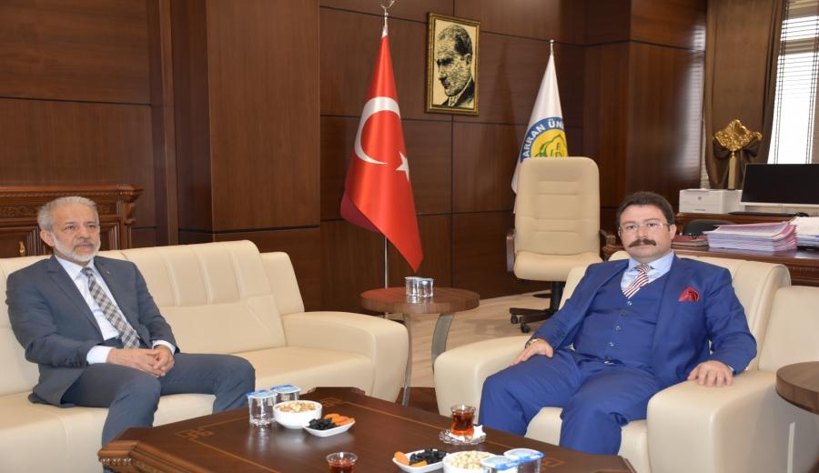 Şanlıurfa OSB Müdürü Aksu Rektör Çelik'i Ziyaret Etti