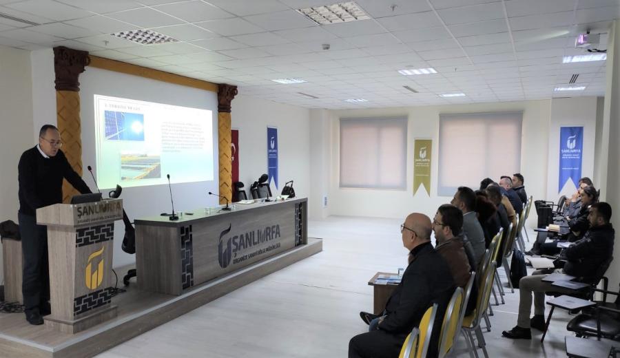 Şanlıurfa OSB'de Yenilenebilir Enerji Eğitim Programı Yapıldı