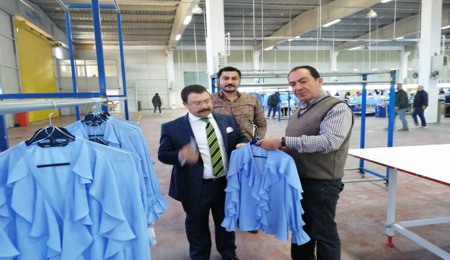 OSB Müdürü Sayın Yunus Emre AKSU Miyar Tekstili Ziyaret Etti